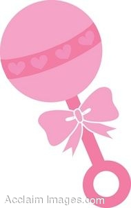 Description  Clip Art Of A Pink Baby Rattle  Clipart Illustration By