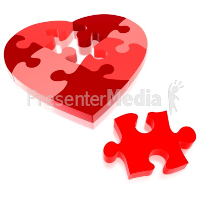 Heart Puzzle Piece Missing   Presentation Clipart   Great Clipart For