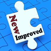Improved Means Development To Upgrade Product   Royalty Free Clip Art