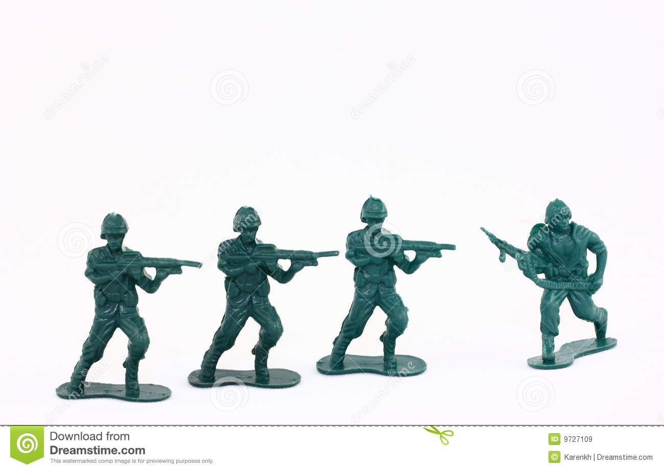 Little Green Army Men   Toy Soldiers Royalty Free Stock Images   Image