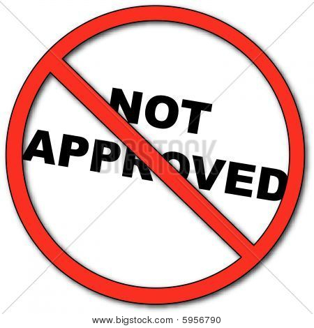 Not Approved Clipart