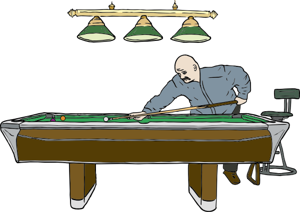 Pool Table With Player Clip Art At Clker Com   Vector Clip Art Online
