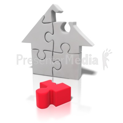 Puzzle Piece House Missing   Education And School   Great Clipart For
