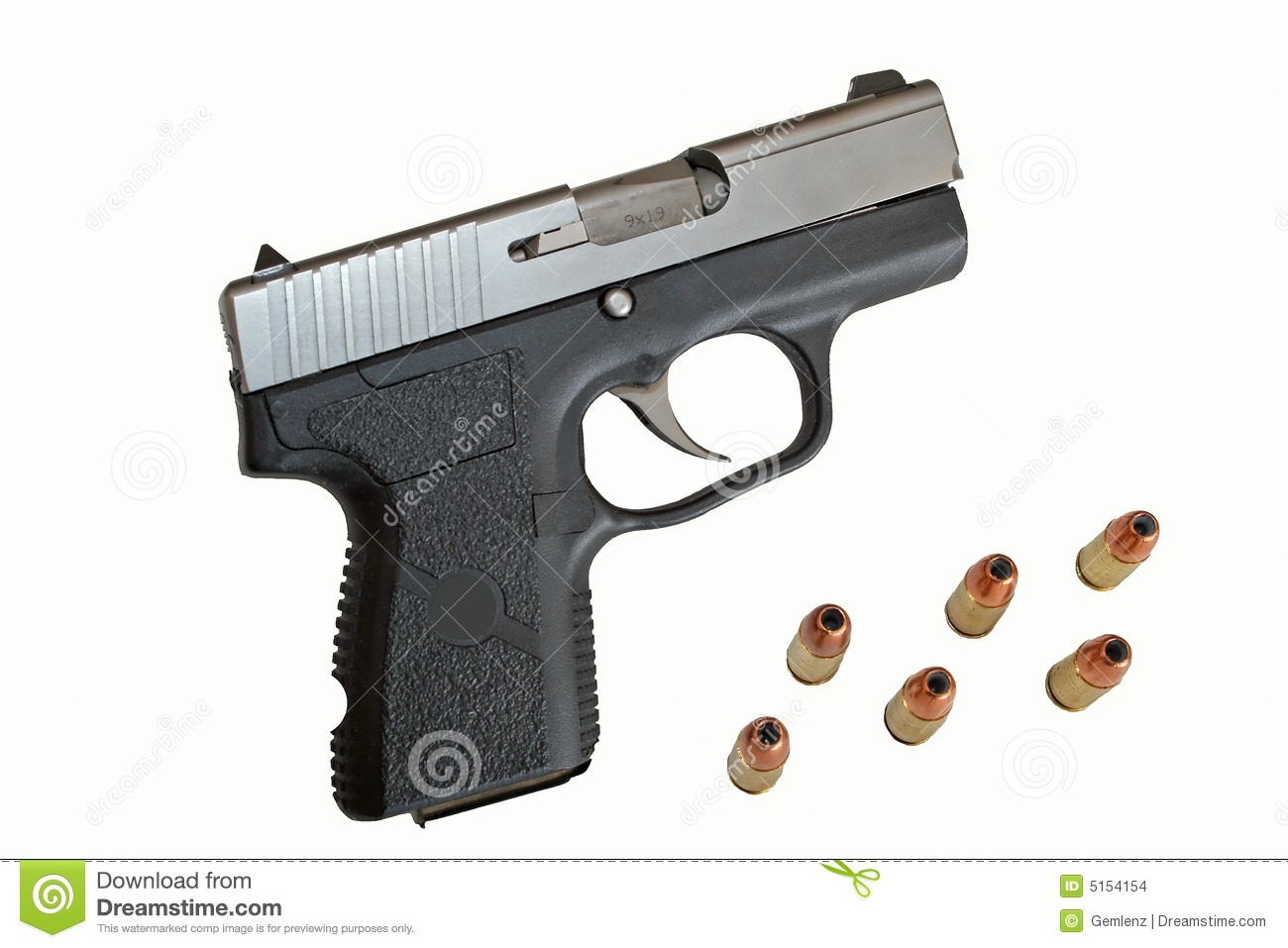 9mm Semi Automatic Stock Images   Image  5154154