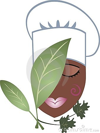 African American Black Passion Chef Female Herbs Stock Image   Image