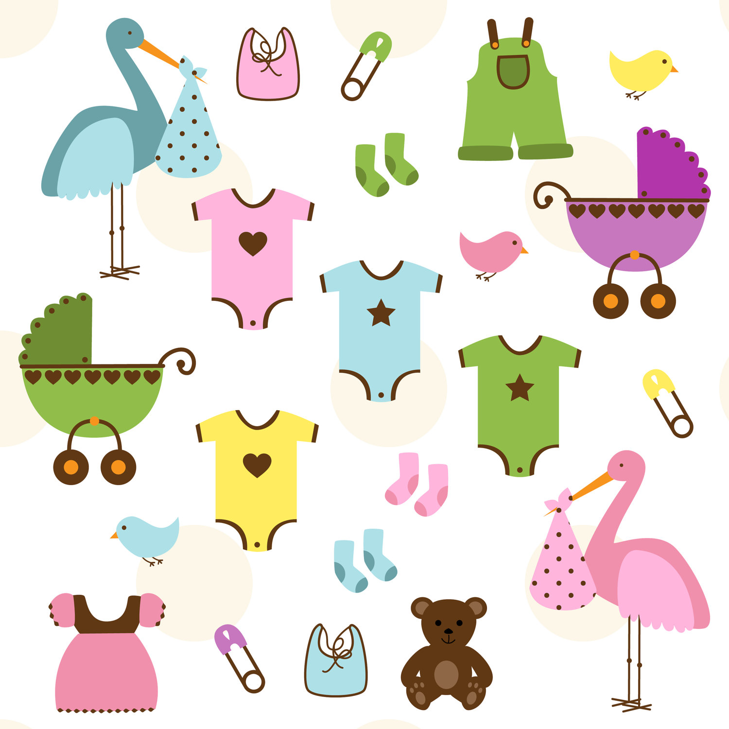 Baby Shower Clipart - Clipart Kid