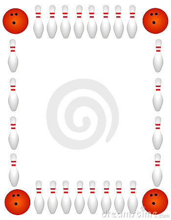 Bowling Border   Frame Royalty Free Stock Photography   Image
