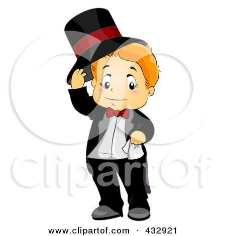 Clipart Of A Black Tuxedo Suit   Royalty Free Vector Illustration By