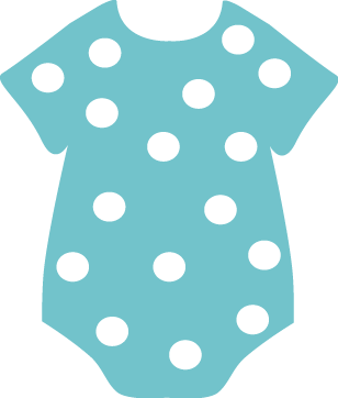 Dot Onesie Clip Art   Teal Onesie With White Polka Dots  This Baby