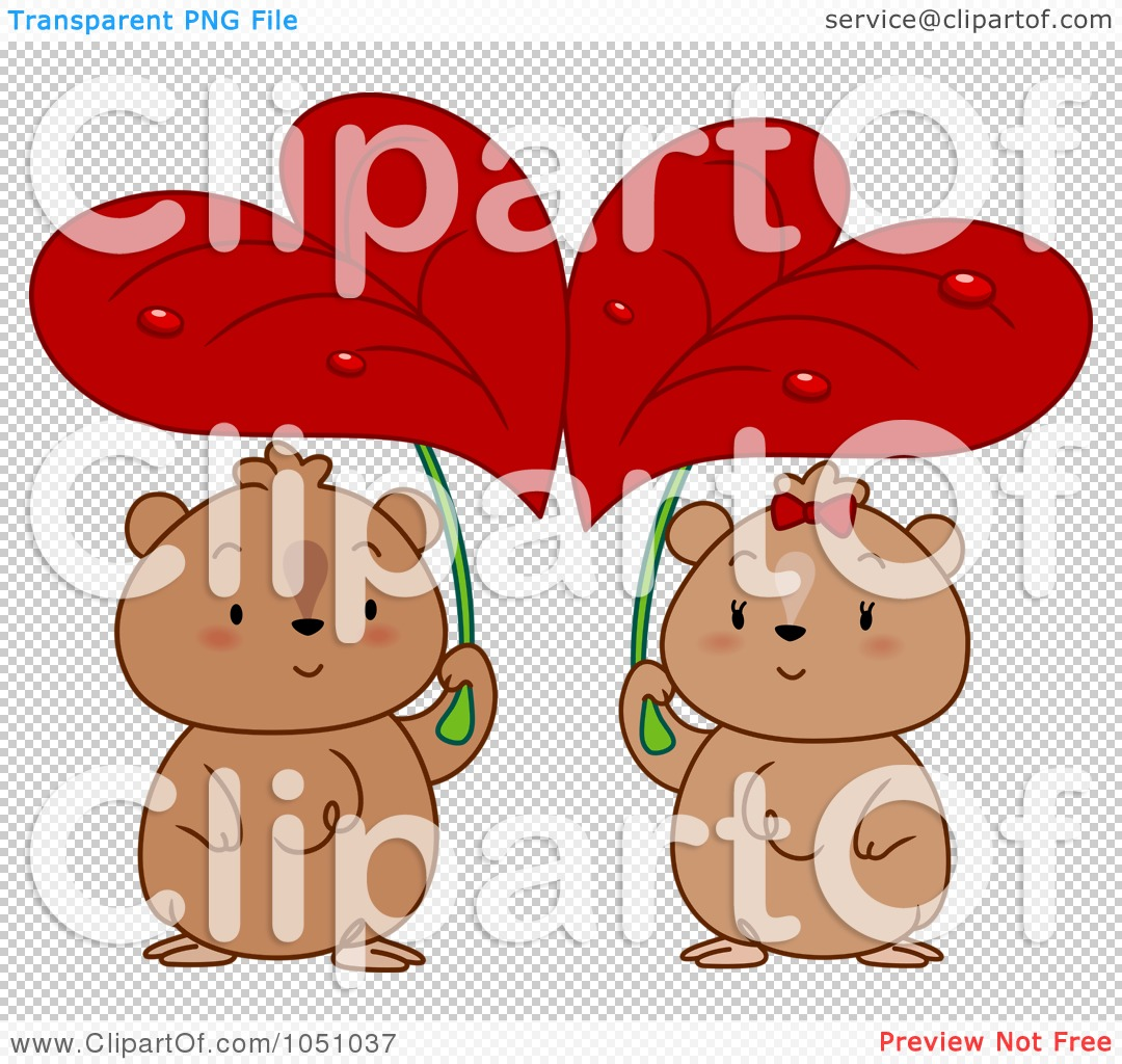 Free Vector Clip Art Illustration Of A Hamster Couple Seeking Shelter