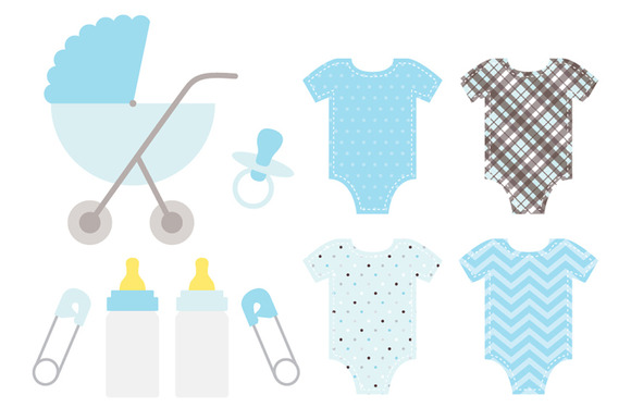 Gallery For   Baby Onesie Clip Art Blue