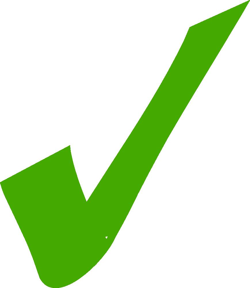 Green Check Clipart - Clipart Kid
