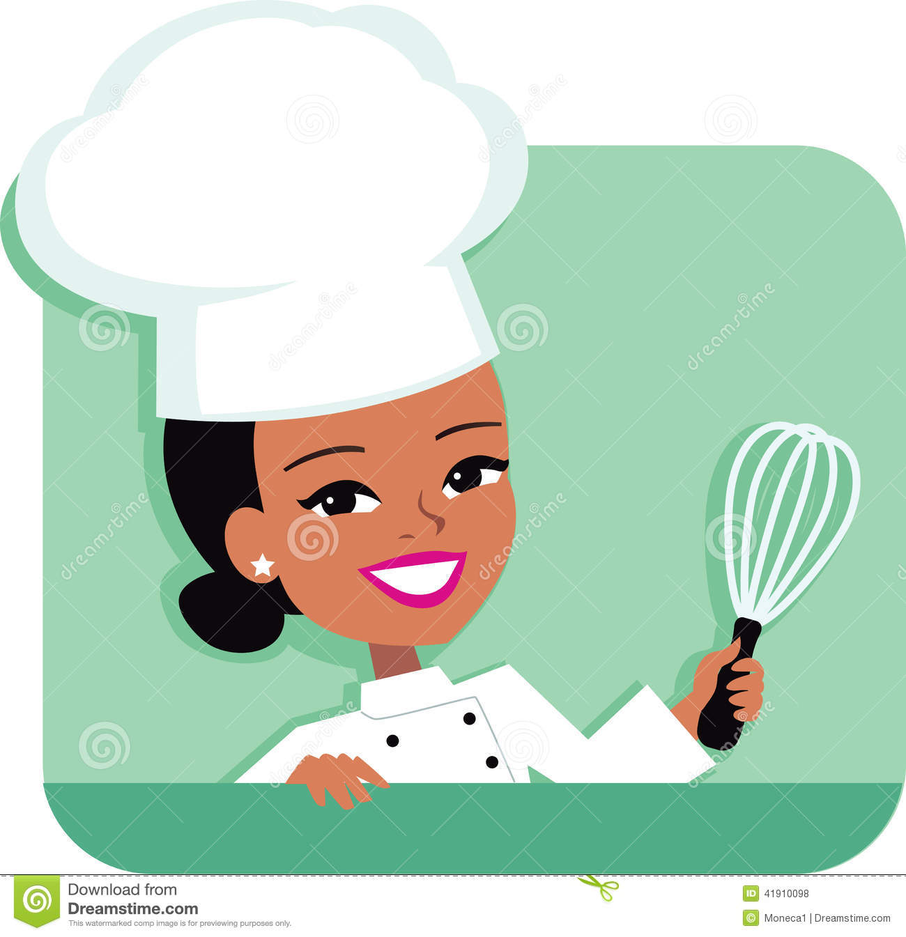 Black Female Chef Clipart - Clipart Kid