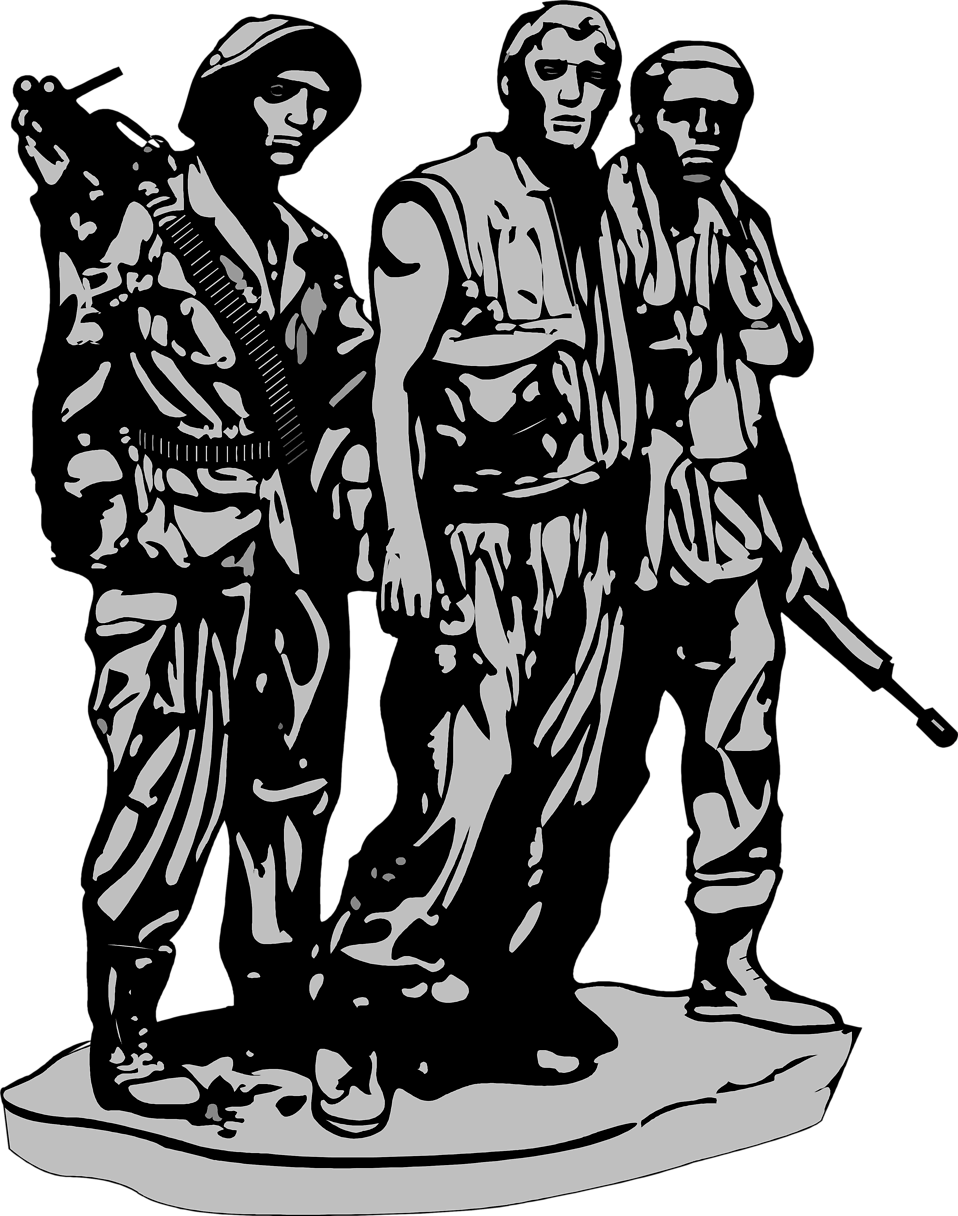 Photo  Illustration Of The Vietnam Veterans Memorial In Washington Dc
