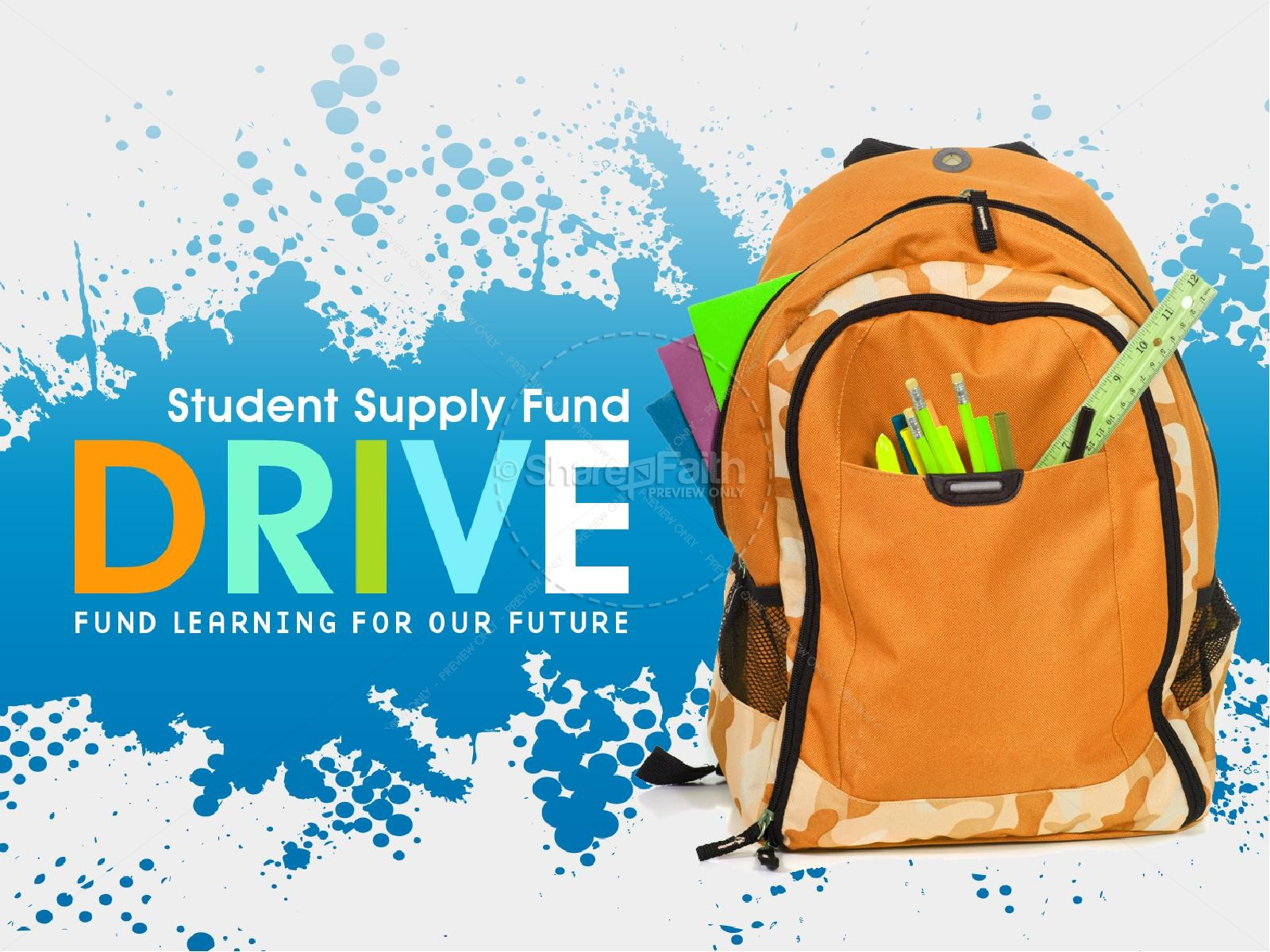School Supply Fund Drive Church Powerpoint   Back To School