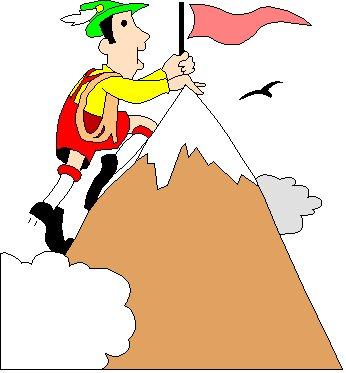 Summit Clipart Cartoon Climber Summit Jpg