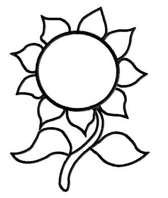 Sunflower Outline Clipart - Clipart Kid
