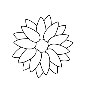 Sunflower Outline Clipart Cliparts Of Sunflower Outline Free Download