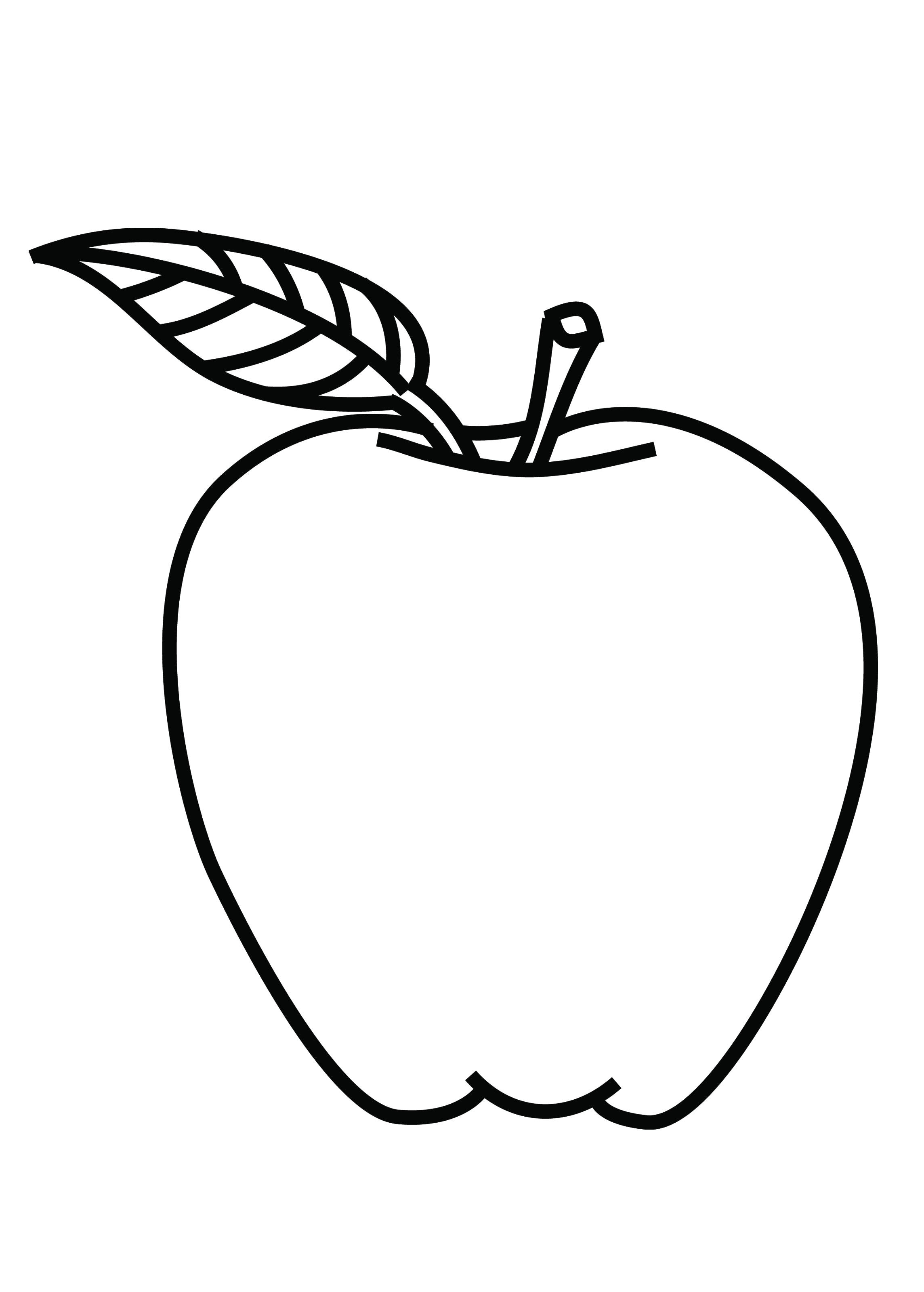 Apple For Pages Clipart Clipart Suggest Coloring Page Of An Apple