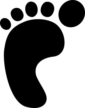 Benji Baby Black Left Right Outline Symbol Hand People Silhouette Feet