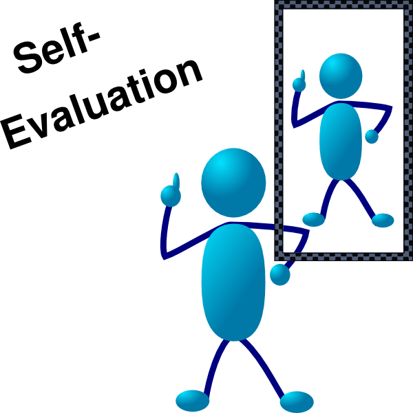 Blue Stick Man Self Evaluation Clip Art At Clker Com   Vector Clip Art