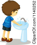 Restroom Washing Hands In Clipart - Clipart Kid