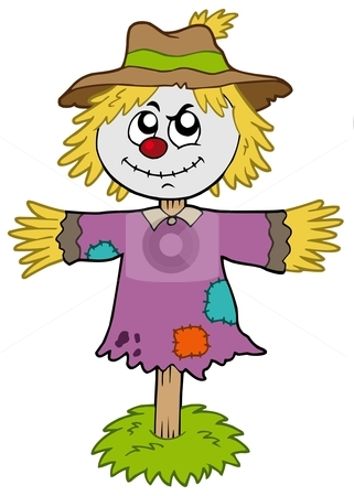 Cartoon Scarecrow Stock Vector Clipart Cartoon Scarecrow On White
