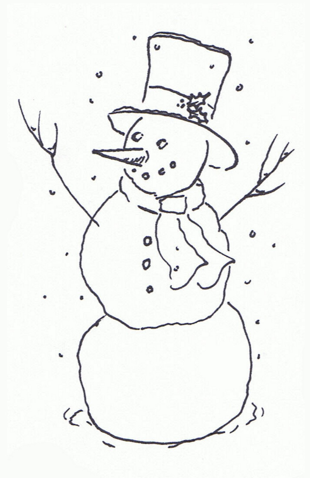 Snowman Black And White Christmas Gift Clipart - Clipart Kid