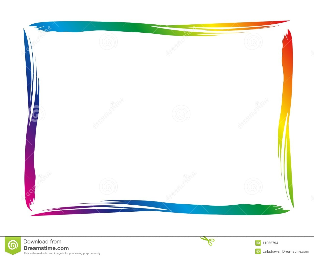 Colorful Border Stock Images   Image  11062794