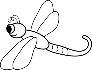 Dragonfly Clipart Image   Black And White Cartoon Dragonfly