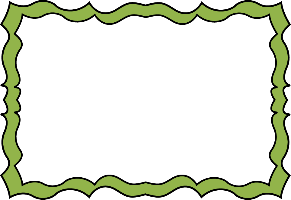 Green Squiggle Frame Fun Squiggly Border Frame With A Green Border