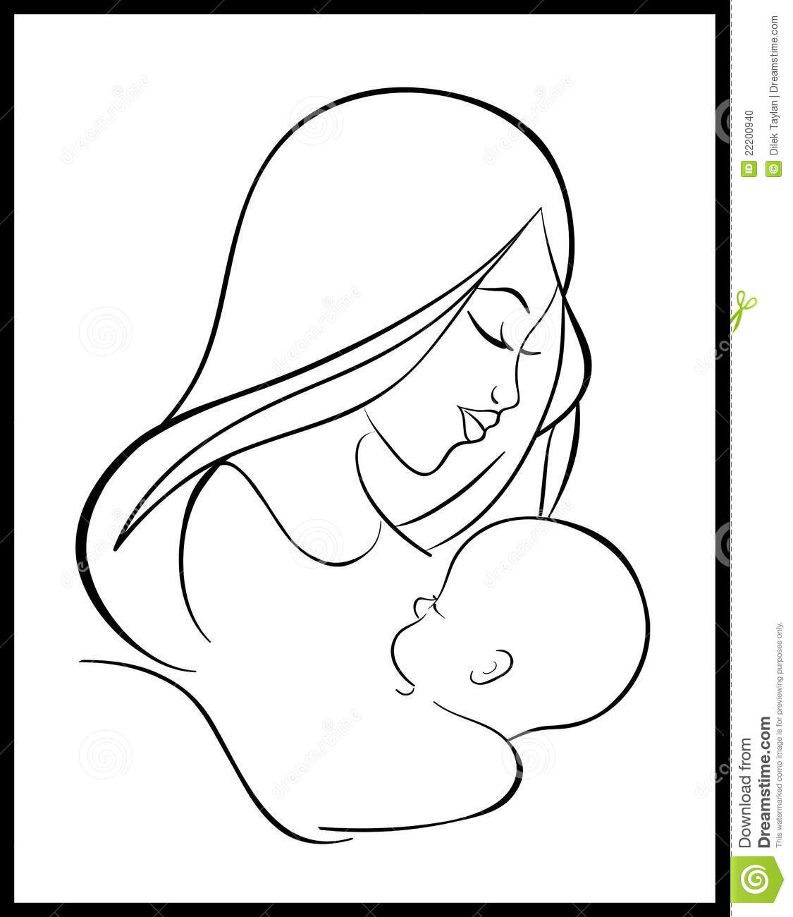 Caring For Baby Black And White Clipart - Clipart Kid