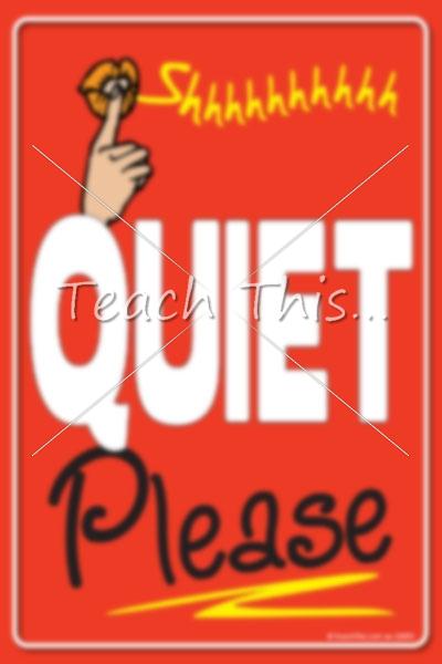 quiet please signs printable