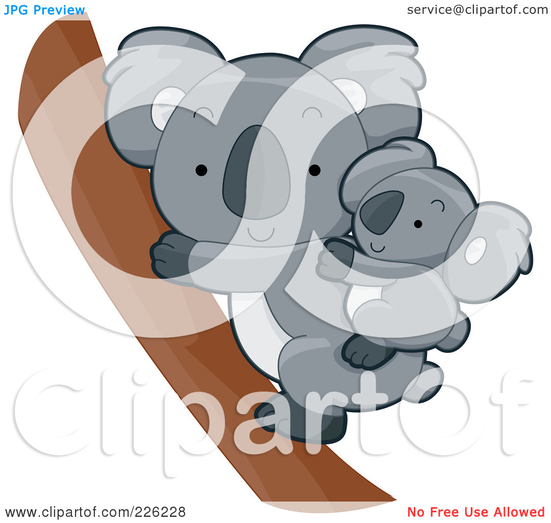 Royalty Free  Rf  Clipart Illustration Of A Cute Baby Koala On Its