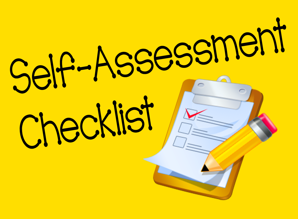 Self Assessment For Students Self Assessment Checklist