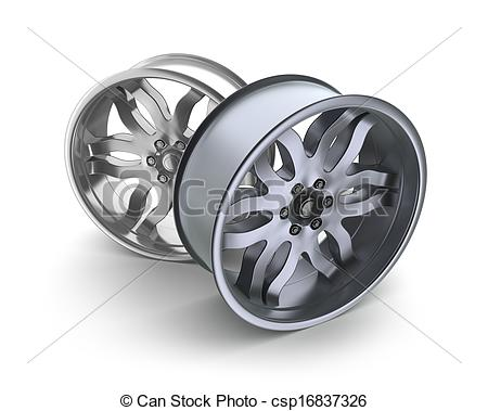 Art Of Car Rims Concept Isolated On White Csp16837326   Search Clipart