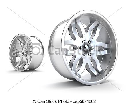 Art Of Car Rims Concept Isolated On White Csp5874802   Search Clipart
