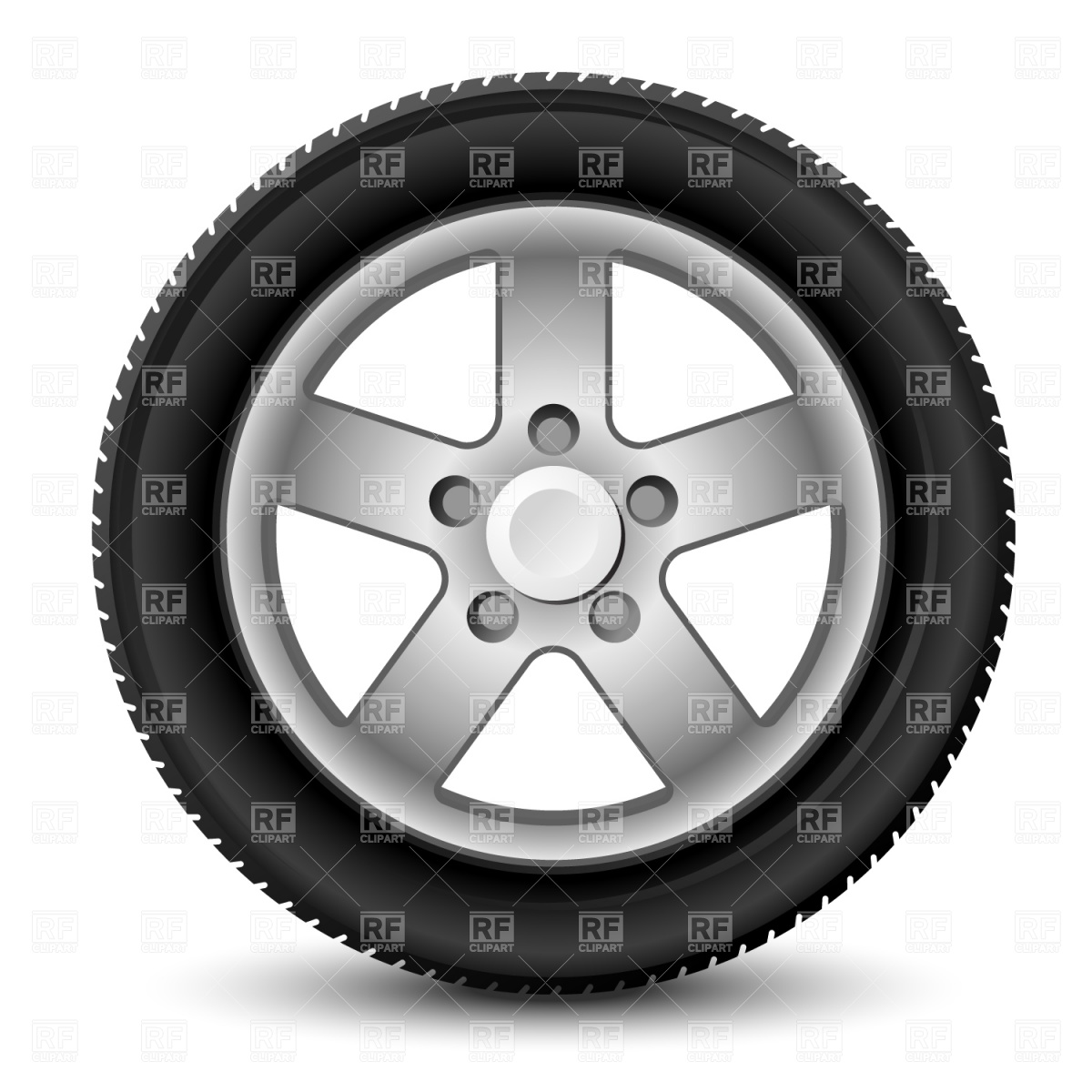 Car Wheel With Tyre 1537 Transportation Download Royalty Free