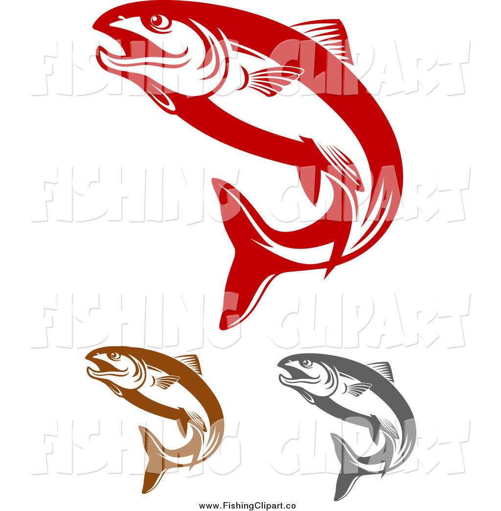 Clip Art Red Fish Clip Art Of Red Brown And Gray