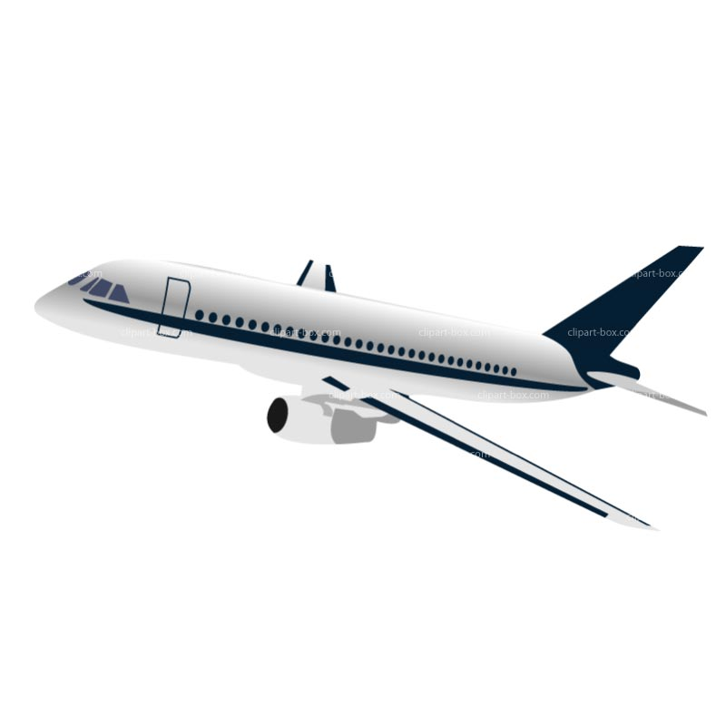 Clipart Airplane   Royalty Free Vector Design