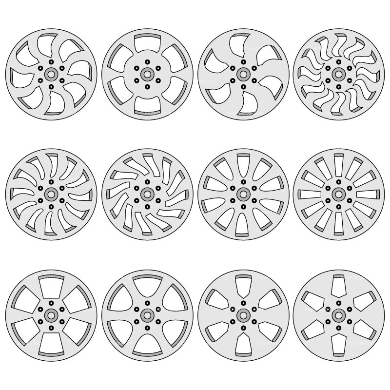 Clipart Car Rims   Royalty Free Vector Design
