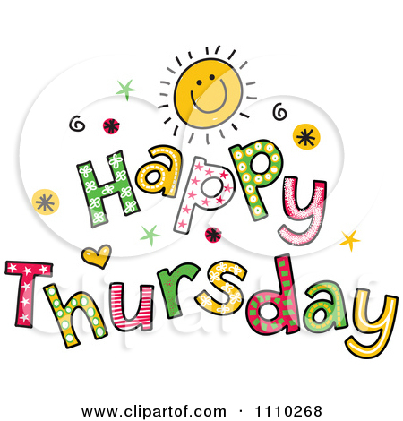 Thursday Clip Art Clipart Colorful Sketched Happy Thursday Text Royalty Free Vector