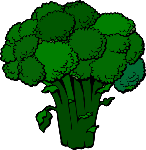 Dark Broccoli Clip Art At Clker Com   Vector Clip Art Online Royalty