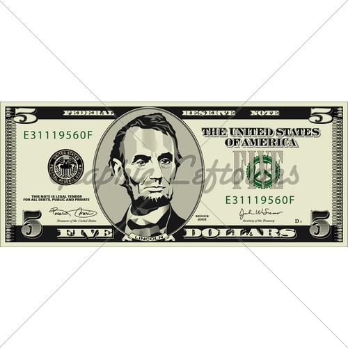 five dollar clipart - photo #3