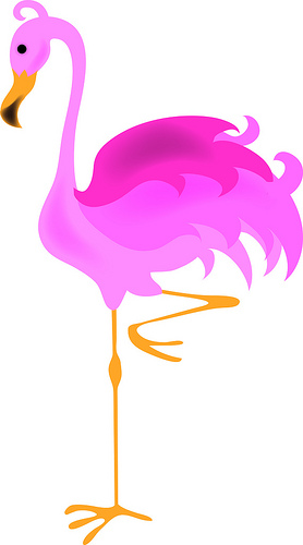 Flamingo Clipart Black And White   Clipart Panda   Free Clipart Images