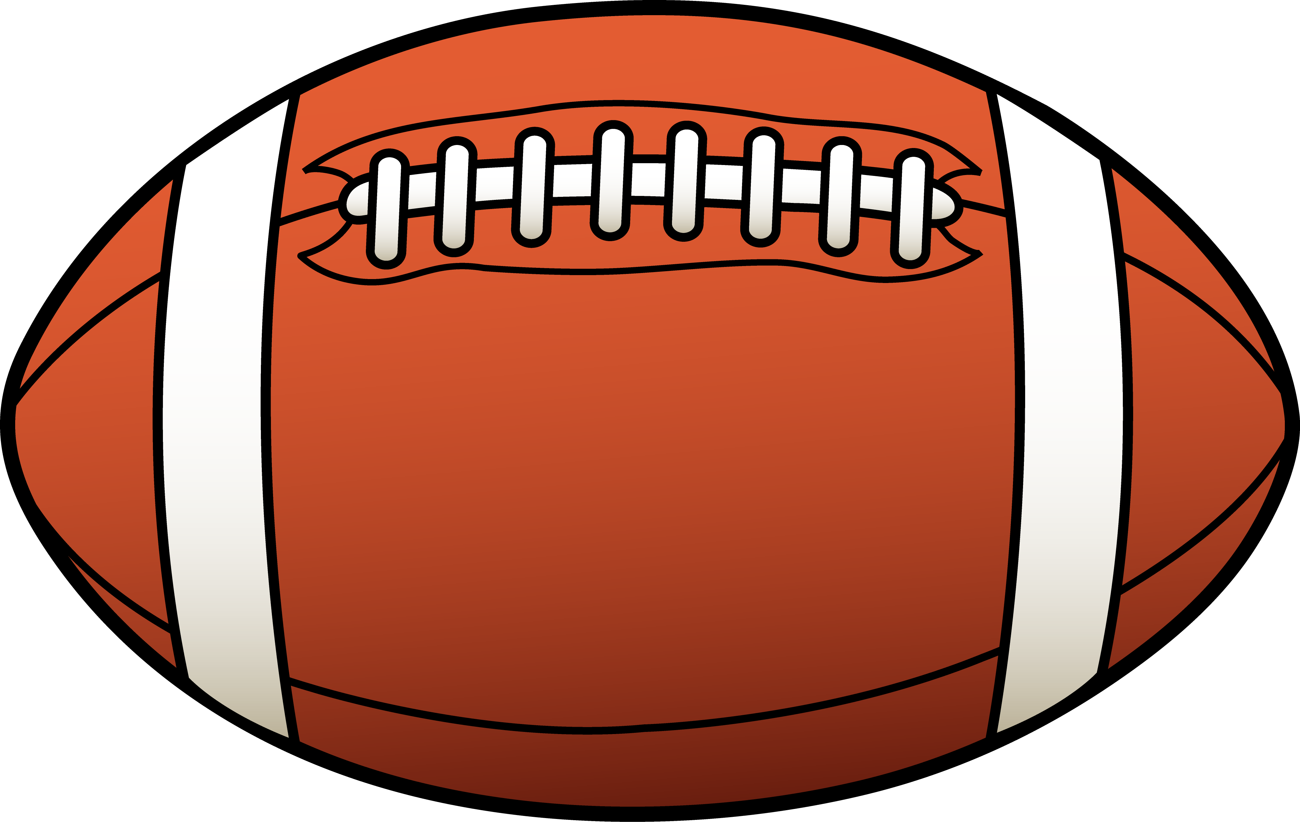 Football Clipart Black And White   Clipart Panda   Free Clipart Images