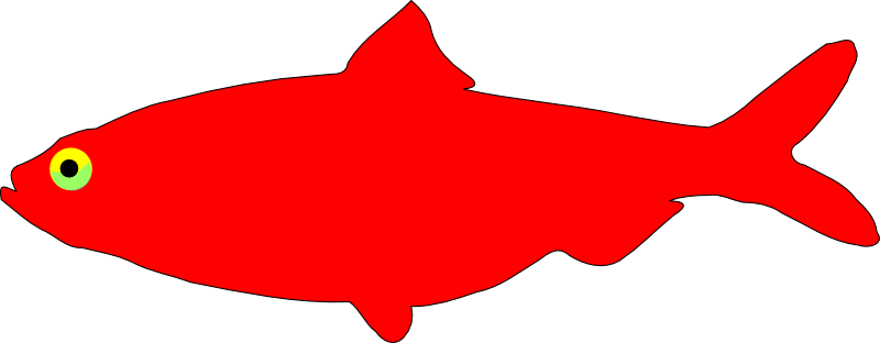 Free Simple Red Fish Clip Art
