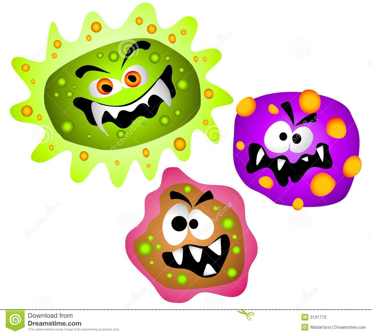 Germs Viruses Bacteria Clipart Stock Photos   Image  3131773