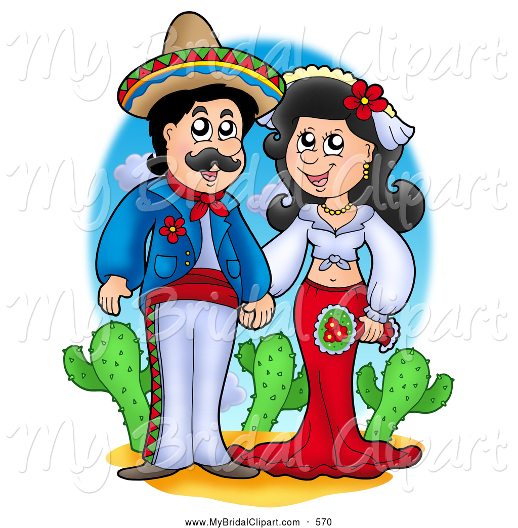 Hispanic Culture Clipart Bridal Clipart Of A Happy