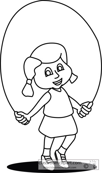 Kids Skipping Rope Clipart